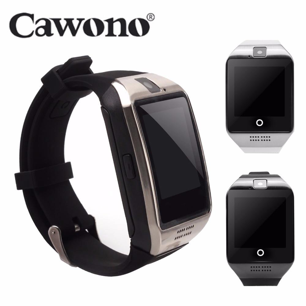 Cawono Bluetooth Q18 Smart Uhr Fitness Tracker Smartwatch Relogio Uhren Uhr Kamera für IOS Apple Huawei Android Handys