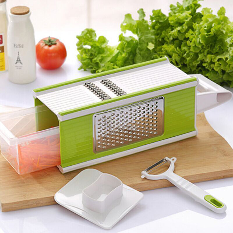 Creative 5 in 1 Vegetable Slicer Set Multi function Spiral Graters Plastic Vegetable Fruit Slicers Cutter Home Kitchen Accessory