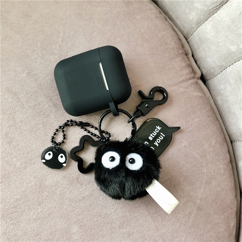 Cute Coal ball decorative Silicone Case for Apple Airpods Bluetooth Earphone Accessories Airpods Headphone Protective Cover in Earphone Accessories from Consumer Electronics