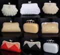 new clutch women bag rhinestones finger ring evening bags pearl wedding evening bag beaded handmade purse bag