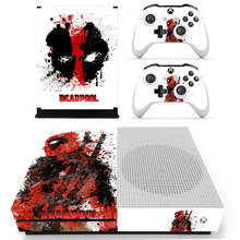 Removable Vinyl Decal Skin Sticker Cover Protector for XBOX ONE Slim Console Kinect and 2 Controller Skin XBOX ONE S-DeadPool стоимость