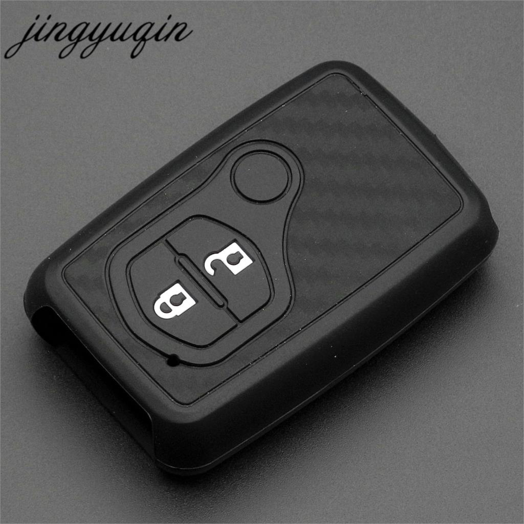 jingyuqin For <font><b>Toyota</b></font> Land Cruiser Prado <font><b>150</b></font> Camry Prius Crown For Subaru Foreste Outback XVCarbon Silicone Car Key Case Cover image