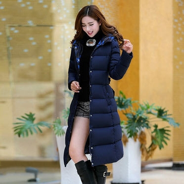 2015 women winter coat bow slim over the knee ultra long thick white duck down jacket with hood warm parka jackets XS- XXL D3849 2015 new thin style winter coat women slim white duck down parka long jacket women s outerwear elegant down jackets coat zj016