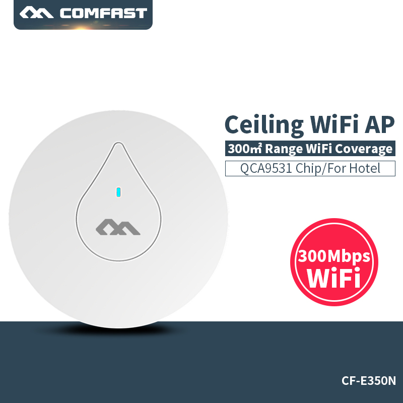 COMFAST CF-E350N 300Mbps Ceiling AP 802.11b/g/n wireless AP wifi coverage router 16 Flash WiFi Signal Access Point 48V POE power d link dir 605l 802 11b g n 300mbps wifi wireless router black