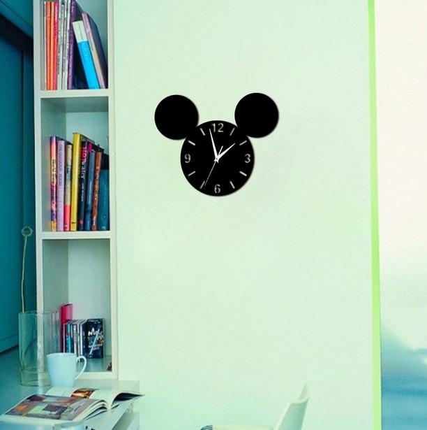 021256 DIY мультфильм детская комната настенные часы спальня гостиная исследование Mute yakeli творчески настольные часы