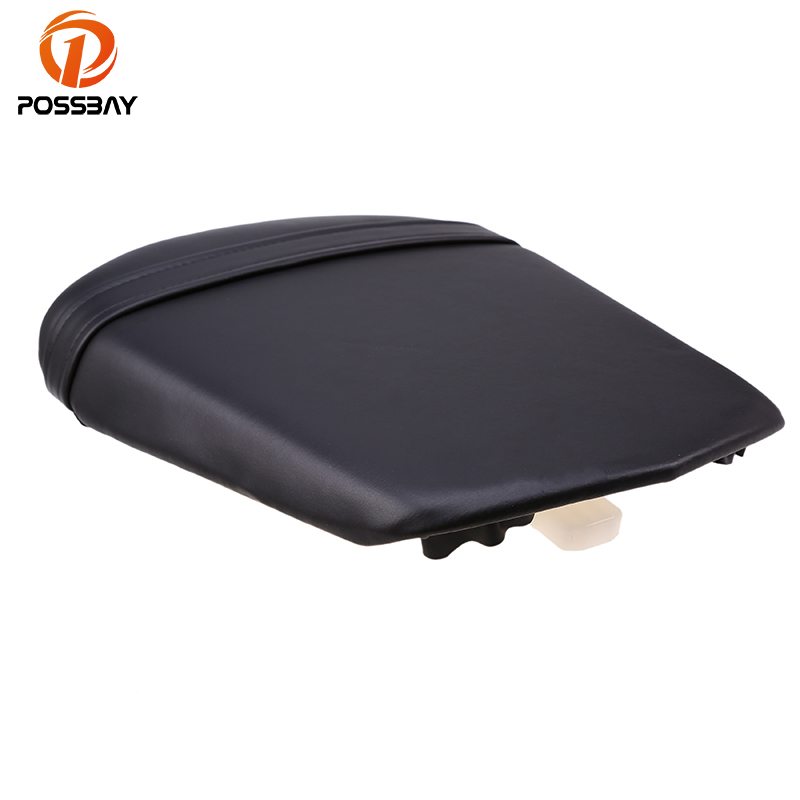 POSSBAY Motorcycle Rear Seat Cushion Cover Scooter Back Seat Leather For Yamaha YZF R6  2003 2004 2005 Off-Road