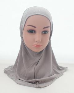 Image 5 - 女の子子供イスラム教徒ヒジャーブイスラムアラブスカーフショール美しいラインストーンファッション帽子アクセサリー 3 8 歳