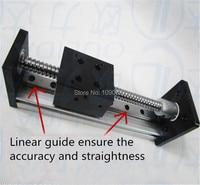 High Precision CNC SGX 1605 Ballscrew Sliding Table effective stroke 700mm+1pc nema 23 stepper motor XYZ axis Linear motion