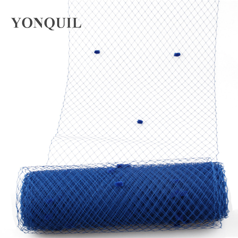 Blue Or 22Colors Dot Birdcage Veils 25CM Width For Fascinator Mesh DIY Hair Accessory Hat Netting Fabric Material 5 Yard/lot