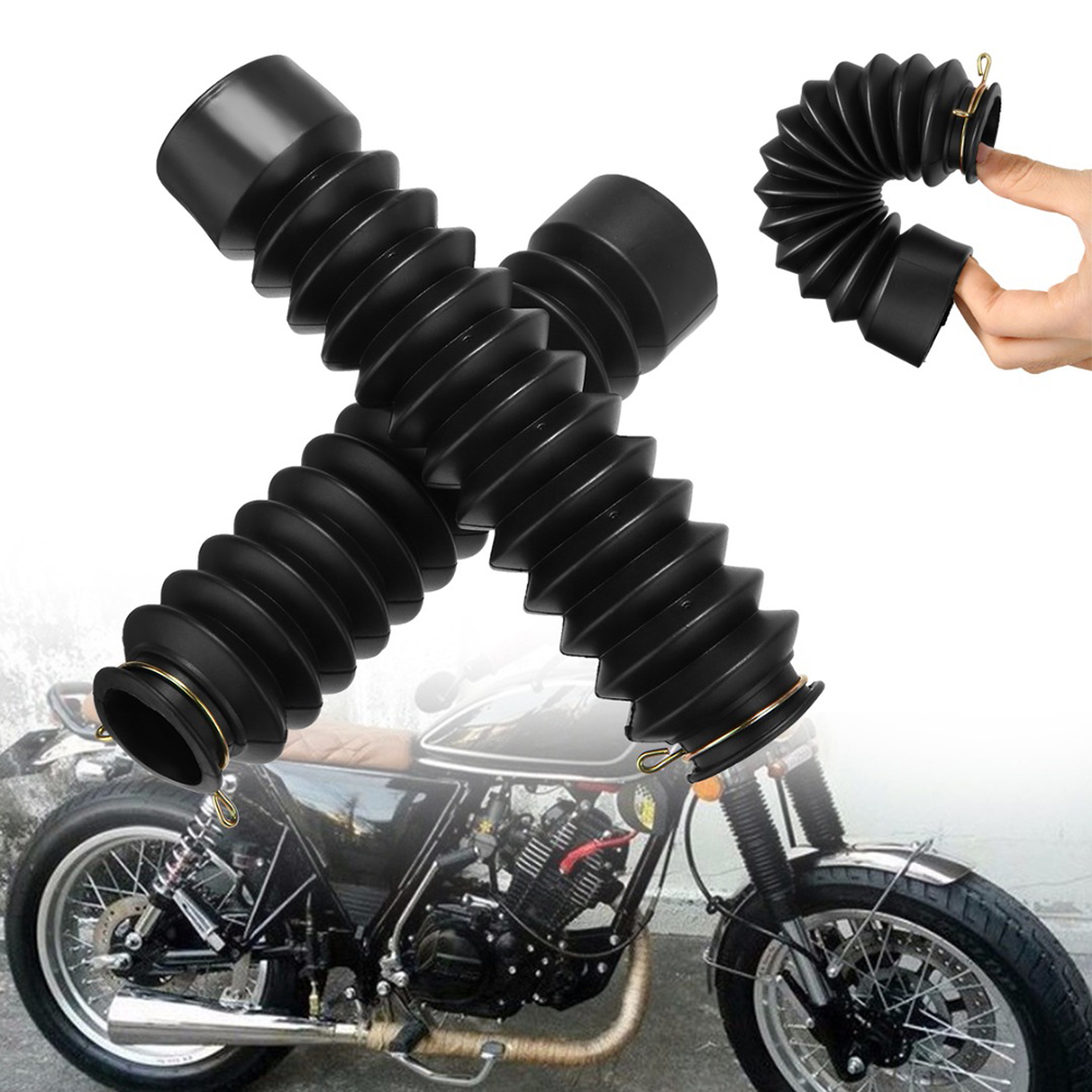 Rubber Shock Protector Front Fork Covers Motorcycle Gaiters Damping Boots