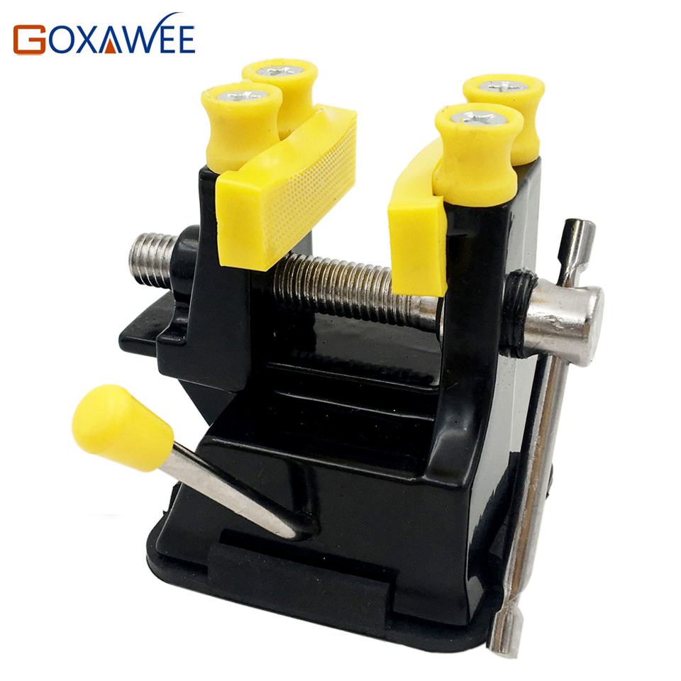Mini Table Vice Adjustable Max 37mm Plastic Screw Bench Vise for DIY Jewelry Craft Repair Tools Dremel Power Tools Accessories goxawee mini table vice dremel rotary tool screw bench vise for diy jewellery craft mould fixed repair tool dremel tools