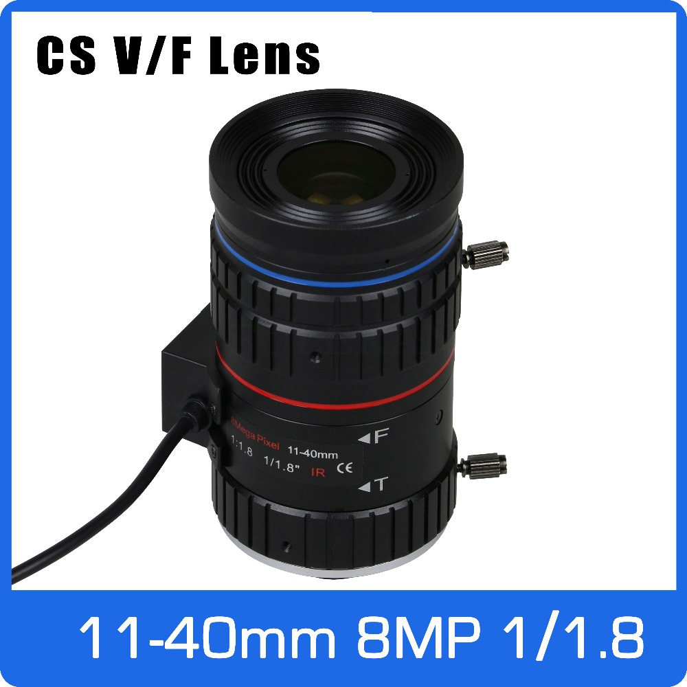 8Megapixel Varifocal C Mount 4K Lens 1/1.8 inch 11-40mm DC IRIS For SONY IMX185/226/178 Face Recognition Box Camera/4K Camera 3megapixel dc auto iris varifocal cctv lens 1 1 8 inch 4 18mm c mount for sony imx185 1080p box camera ip camera free shipping