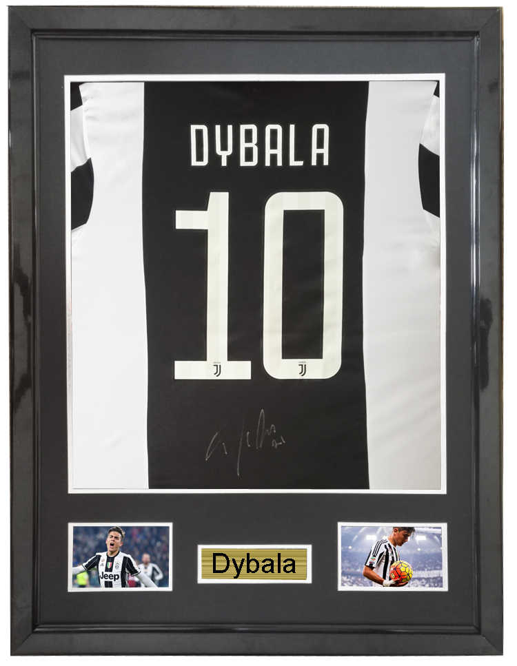 9b9cd17cbc0 Dybala signed autographed soccer shirt jersey come with Sa coa framed  Juventus