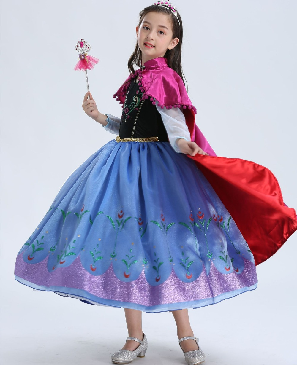 Sofia Princess Dress Kids Cosplay Costumes Girls New Arrival: 2018 New Birthday Anna Dress Girls Party Vestidos Cosplay
