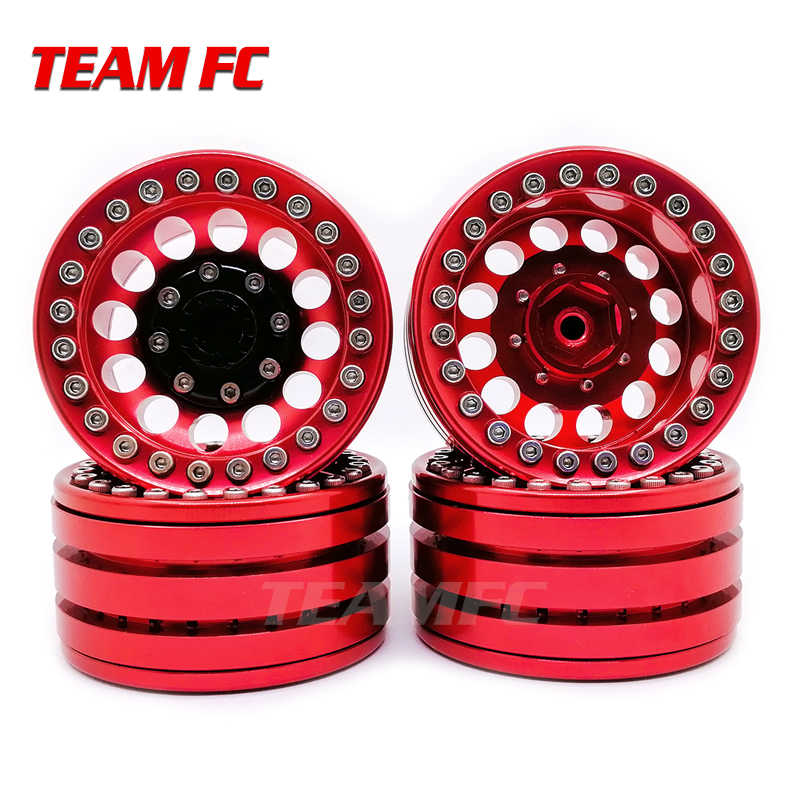 "4PCS LEGERING ROCK CRAWLER BEADLOCK VELG 1.9 ""VOOR AXIAL RACING SCX10 TRX-4 TF2 JEEP RC AUTO S350"