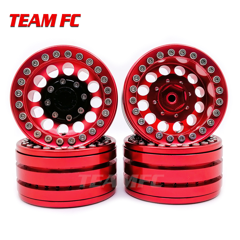 4PCS ALLOY ROCK CRAWLER BEADLOCK WHEEL RIM 1.9