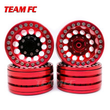 "4 Pcs Alloy Rock Crawler Beadlock Roda Rim 1.9 ""untuk Axial Balap SCX10 TRX-4 TF2 Jeep Mobil RC S350(China)"