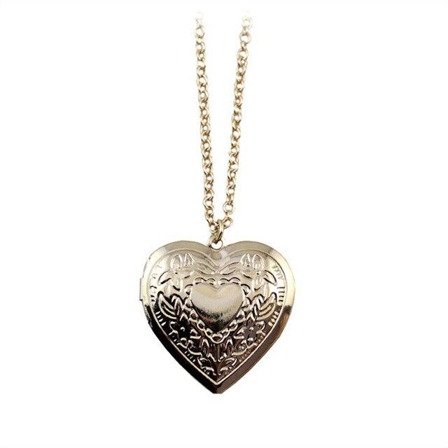 Các thời trang mới Khôi Phục cách cổ xưa là tay-cắt trái tim dài vòng cổ vàng Có Thể mở vòng cổ mặt dây chuyền