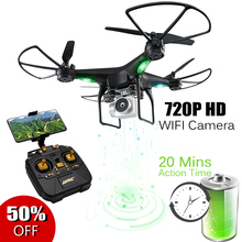 RC Quadcopter with 720P HD WIFI Camera Altitude Hold about 20 Mins Long Flying Time Professional Drone Headless Mode Helicopter