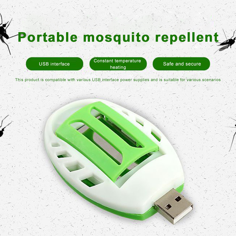 Mosquito Killer Electric Summer Insect USB Green+White Electric Mosquito Repeller Repellent Plastic Pest Control Sleep Home image