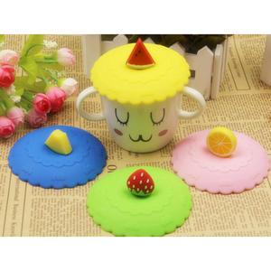 Cup-Cover Fruit Silicone Coffee-Lid-Cap Anti-Dust Leakproof 1pc Airtight Lovely