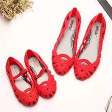 Mini Melissa 2019 New Women Jelly Sandals Children Roman Shoes Hollow Girls Princess Non-slip Beach