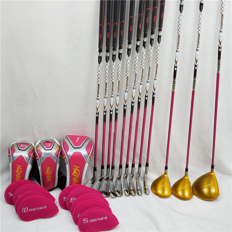Women Golf Clubs Complete Set Honma Bere S-06 4 Star Golf Club Sets Driver+Fairway+Golf Iron+putter (13piece No Bag)
