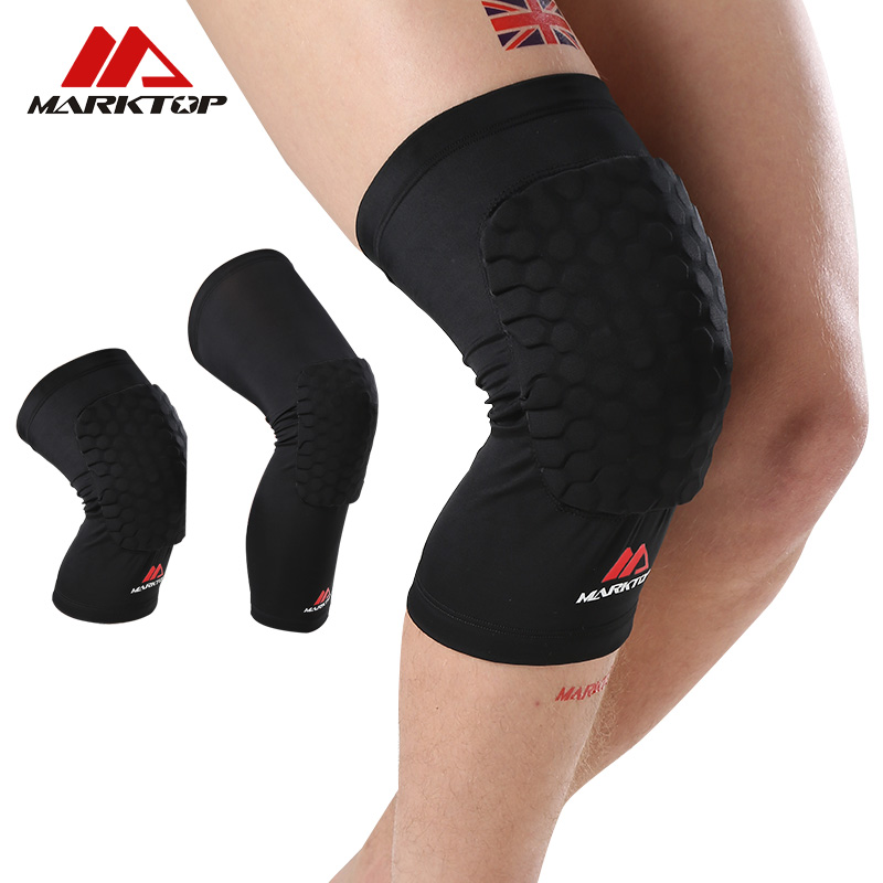 Marktop 1Pc Knee Pads Honeycomb Compression Leg Sleeve Sports Safety Basketball Kneepad Volleyball Knee Brace Support Protector