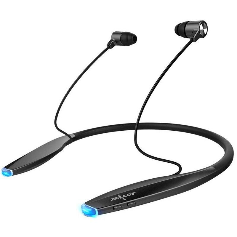 bilder für Zealot h7 bluetooth nackenbügel kopfhörer magnetische ohrhörer wireless in-ear headset noise cancelling kopfhörer sport-laufende mic