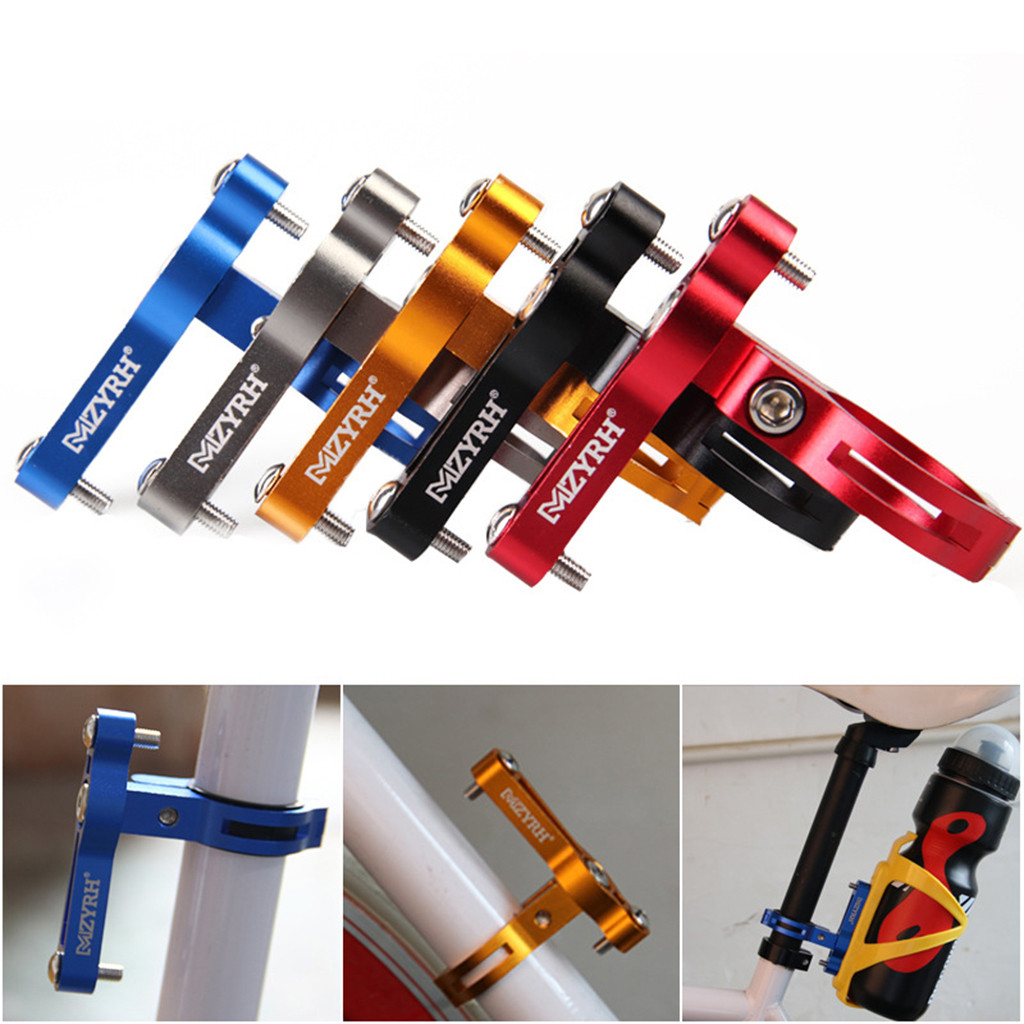 New MTB Bike Bicycle Cycling Metal Water Bottle Cage Holder Clamp Clip Handl 1F6