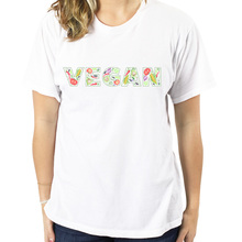VEGAN fruit & vegetables logo women's t-shirt / girlie