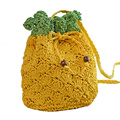 Cute Pineapple Shaped Drawstring Shoulder Bag Women Messenger Bags Casual Summer Holiday Beach Bag Woven Straw Basket Bag JXY559