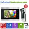 YSECU Door Access Control 7 LCD Display Video Camera Door Phone 1200TVL Security Camera Intercom