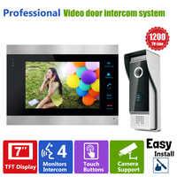 """Kontrola dostępu do drzwi Homefong 7 """"wyświetlacz LCD wideodomofon telefon drzwi 1200TVL kamera ochrony domofon nagrywanie obrazu/wideo"""