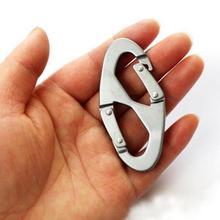 Монтажный алюминиевый сплав 8 Форма Карабин Многофункциональный водонепроницаемый износостойкий быстро крючки кольцо для ключей Открытый Инструменты
