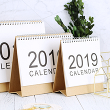 2019 Desktop Stand Up Calendar Monthly Scheduler Table Planner Wirebound Simple Design with Small Chinese Character New Arrival