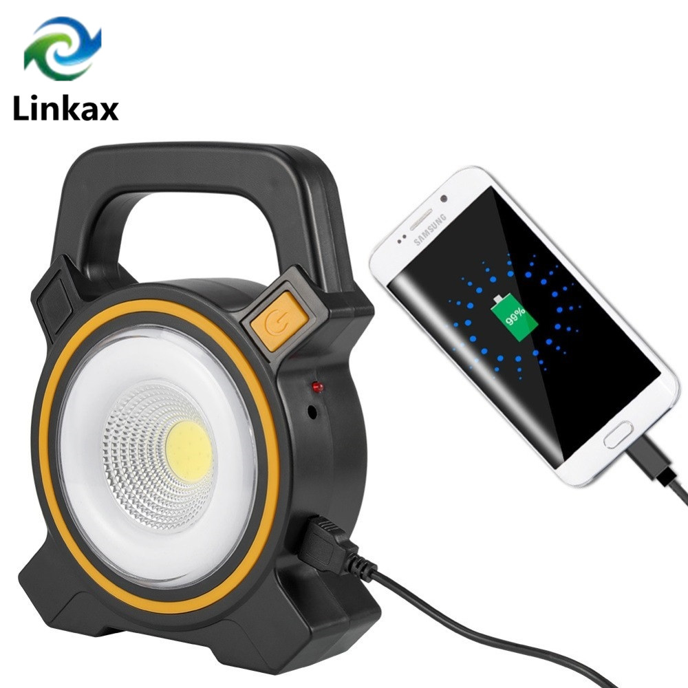Camping Spotlight Lantern Searchlight Built in Battery USB Rechargeable Light