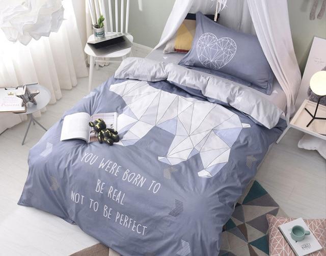 Cartoon Children/kids 100% Cotton 3pcs Bedding Set Twin Size Single Bed Bed  Linen