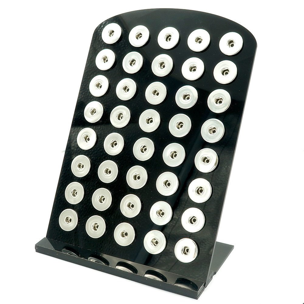 High Quality Black Acylic Display For Snap Buttons With 35&40pcs Buttons Fit 18mm&12mm Snap Buttons Wholesale PJ0009