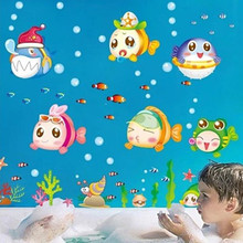 Nemo Fish Sea Cartoon Wall Sticker For Shower Tile Stickers In The Bathroom Children Kids Baby Bath