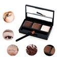 Profesional Sombra de Ojos de la Ceja Del Maquillaje 3 Color Cejas Paleta de Polvo + Cera de Cejas + Cepillo
