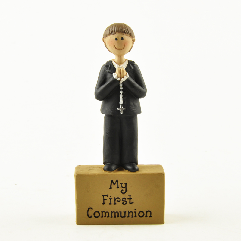 Knowledgeable My First Communion Decoration Boy Cake Topper Accessories Ark Of The Covenant Holy Gift Resin Figurines Home Decor Skillful Manufacture