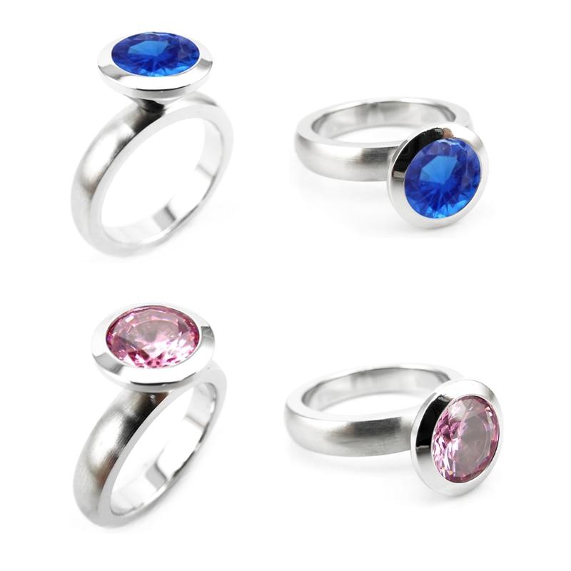 R01-8 stainless steel DIY ring 12 birthstone