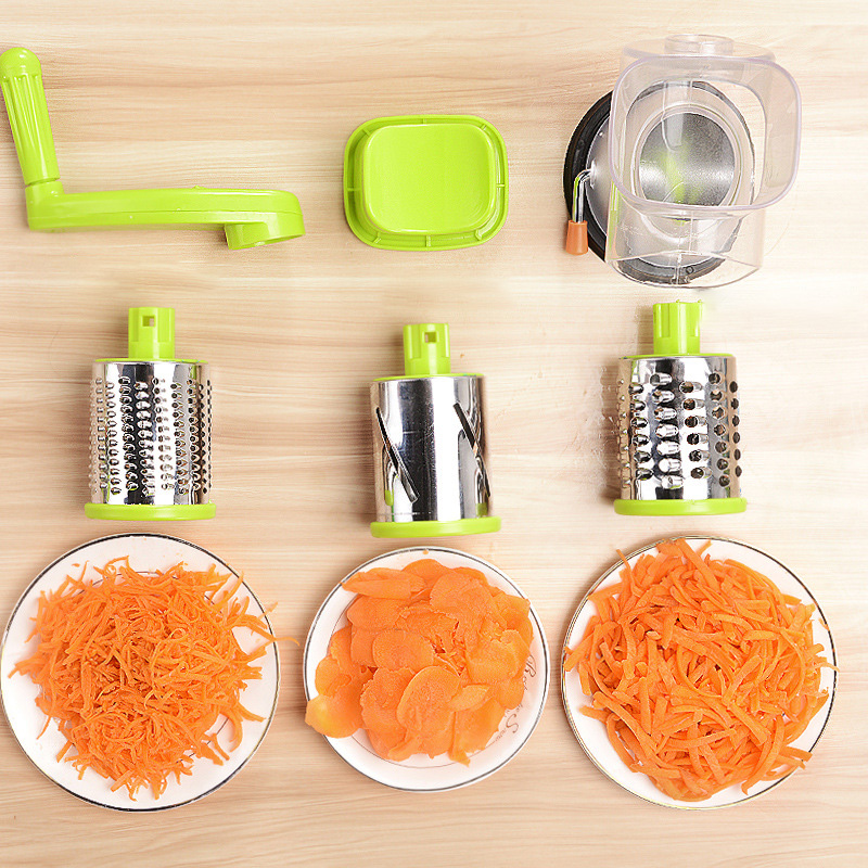 Manual Vegetable Cutter Slicer Multifunctional Round Mandoline Slicer Potato Cheese Gadgets Kitchen Accssories (3)