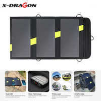 X-DRAGON High Efficiency Foldable Solar Panel Charger 5V 20W Solar Charger for Smartphone iphone Huawei Samsung