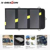 X-DRAGON carregador solar dobrável 5 v 20 w do painel solar da eficiência elevada para o iphone huawei samsung do smartphone