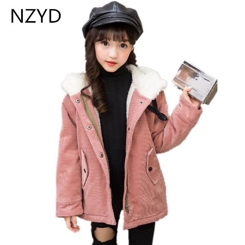 New Fashion Autumn Winter Cotton Girls Coat 2017 Korean Children Hooded Jacket Coat Casual Joker Kids Clothes DC692 цены онлайн