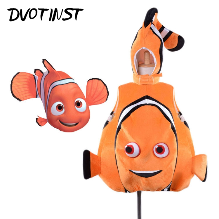 Baby Children Kids Adorable Child Clownfish From Pixar Animated Film Finding Nemo Fishy Halloween Party Cosplay Costume Clothing finding nemo 2 finding dory plush toys 25cm nemo