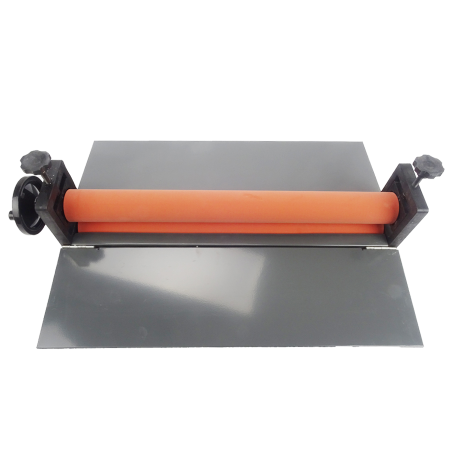 1PCS New Heavy 25 Manual Cold Roll Laminator Perfect Protect Laminating Machine Office Equipment fm 360 paper laminating machine students card worker card office file laminator steel roll laminating machine