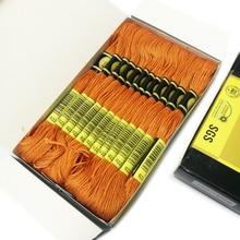24 мотки мульти цветная вышивка нитки мулине Египетский длинный волокна DMC Вышивка крестом DIY Швейные Ремесло вышитые нить